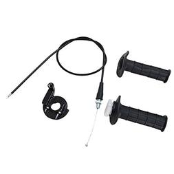 Poweka Throttle Handle and Grip Cable Kit Assemnly for Mini