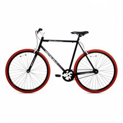 Kent Thruster 700C Men's Fixie Bike Black&Red Steel Rise Ste