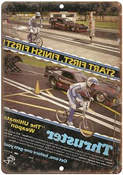 "Thruster BMX Racing Vintage Ad 12/"" x 9/"" Retro Look metal sign B31"