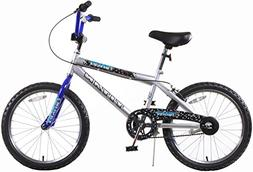 Titan Tomcat Boys BMX with 20 Wheel, Silver and Blue, with C