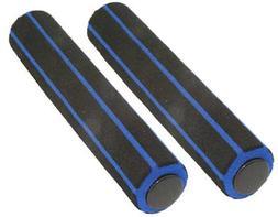 Track Bike Foam Grips 180 mm Black/blue.