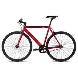 6KU Track Fixed Gear Bicycle, White/Black, 58cm