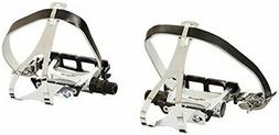 Wellgo Track Fixie Bike Pedal with Toe Clips and Leather Str