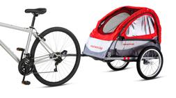 Schwinn Trailblazer Single Bike Trailer with Quick-Release W
