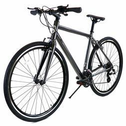 ZF Bikes - Transit Men - Grey Hybrid Bike