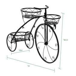 Tricycle Bicycle Flower Pot Plant Stand 3 Round Basket Style