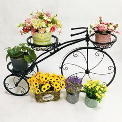 Tricycle Plant Stand Flower Pot Cart Holder Planter Rack Gar
