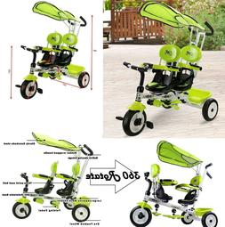 Twins Tricycle Stroller Double Toddler Bike For 1 Year Old T