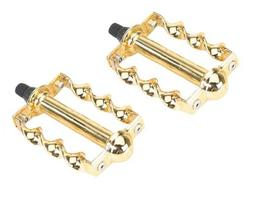 """Vingtage Style Lowrider Krate PedalBicycle Twisted Caged Pedal  1//2/"""" Gold Custom"""