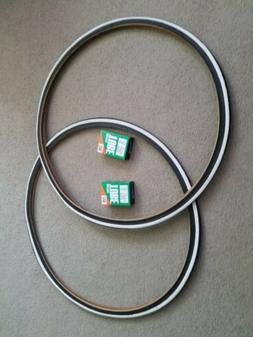 TWO DURO 700X25 C BICYCLE TIRES FIXIE TRACK URBAN BLACK N WHITE /& 2 TUBES 2