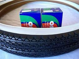 Two  White Wall 26x2.125 Bicycle Tires &  Duro inner tubes/B