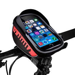 Allnice Bike Bag, Waterproof Touch Screen Bike Handlebar Bag