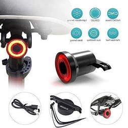TuffGear Ultra Bright Smart Bike Tail Light with Auto On/Off