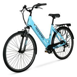Hyper E-Ride Electric Bike, 36 Volt Battery, 700C Wheels, Bl