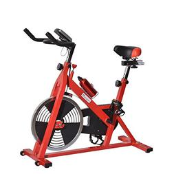 Soozier Upright Stationary Exercise Cycling Bike w/ LCD Moni