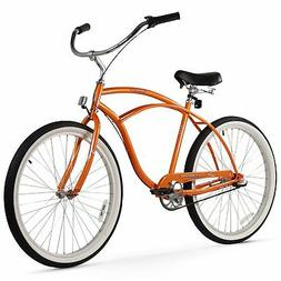 "Firmstrong Urban Man Beach Cruiser Bicycle Orange 26"" / 3-Sp"