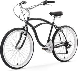 Bike Urban Man Beach Cruiser Men Bicycle Comfort Seat Outdoo