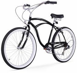 Firmstrong Urban Man Seven Speed Beach Cruiser Bicycle, 26-I