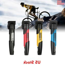 US New Mini Bicycle Hand Pump Mountain Bike Cycling Air Pump