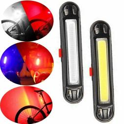 US - USB Rechargeable LED Bicycle MTB Front Rear Tail Light