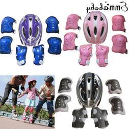 USA Boys Girls Kids Safety Helmet & Knee & Elbow Pad Set For