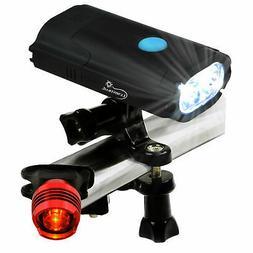 USB Rechargeable Bike Light Set 800 Lumen LED Bike Headlight