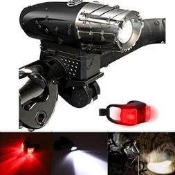 USB Rechargeable LED Bicycle Bright Bike Front Headlight and