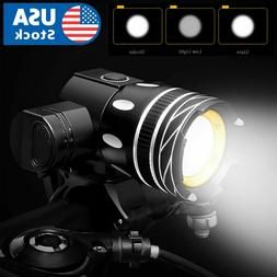 USB Rechargeable Bicycle Light Set Bike Front LED Zoomable H