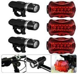 USB Rechargeable LED Bike Lights Set Headlight Taillight Cau