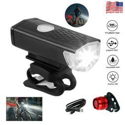 usb rechargeable led bicycle headlight bike head