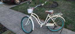 "Used 26"" Schwinn Fairhaven Women's 7-speed Cruiser Bike, Cre"