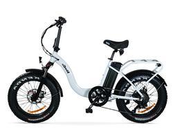VeeGo 750 Watt 28MPH Fat Tire Electric Bike, Cargo Rack, Baf