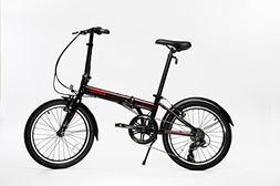 "EuroMini Via 20"" Folding Bike-Lightweight Aluminum Frame G"