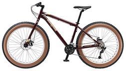 "Mongoose Vinson Fat Tire Bike, White 26"" Wheel"