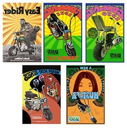 Vintage Mini Bike Posters Set of 5