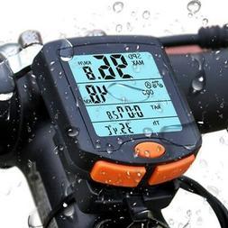 Waterproof Wired Cycling Bike Computer LCD Bicycle Speedomet
