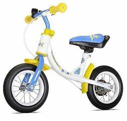 WeeRide Learn 2 Ride Balance Bike, White, 10-Inch