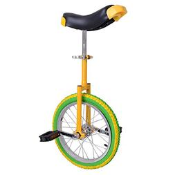 16 Inches Wheel Unicycle Comfort Saddle Seat Skid Proof Tire