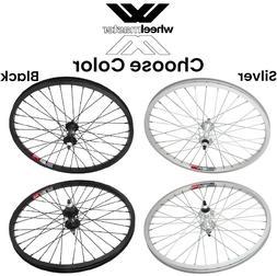 """Wheelmaster 20"""" 3/8 Alloy Wheelset Front & Rear BMX Bike 20-"""