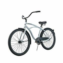 "White Cruiser Bike 26"" Men Huffy Traditional Comfort Commute"