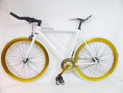 White and Gold Fixie Track Bike By Sgvbicycles Fixies