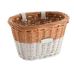 Huffy Wicker Bike Basket, Tan/White New