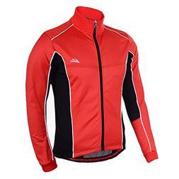 DuShow Men Winter Windproof Warm Fleece Cycling Jersey Bike