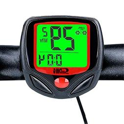 Wolfride® Outdoor Sport Wired Bike Computer Bicycle Odomete