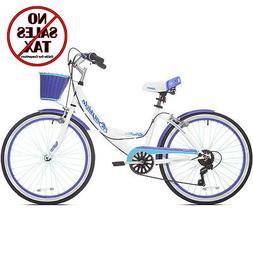"Womens Beach Cruiser Bike 24"" Girls Bicycle 7-Speed Vintage"