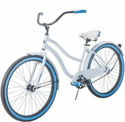 Womens Bike Beach Cruiser For Road Comfort 26 Inch Girls Whi
