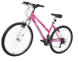 "Huffy 26"" Trail Runner Womens Mountain Bike, Black and Pink"