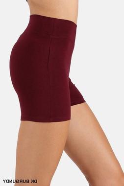 Womens Bike Shorts Pants Leggings Cotton Wide Waist Band Hig