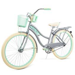 Womens Classic Cruiser Bike Gray Huffy 26' Nel Lusso Sports