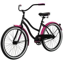 "Huffy 24"" Cranbrook Girls Cruiser Women Bike Single Speed Co"